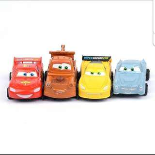 Disney Cars (pull-back) Lightning McQueen and friends racing car