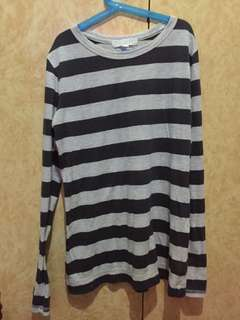 Stripes Long Sleeves Top