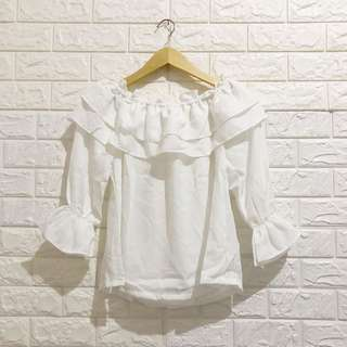 NEGO TIPIS Patricia Blouse in White