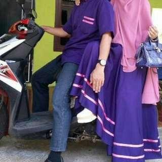 Couple dress, gamis (tidak jilbab) dan kemeja