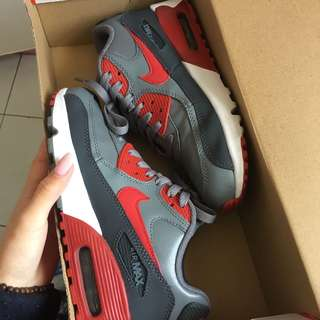 Red grey nike air max 90s