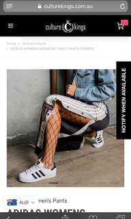 Adidas popper pants