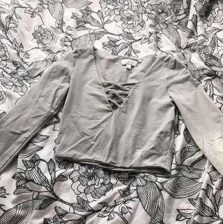Kookai long sleeve crop