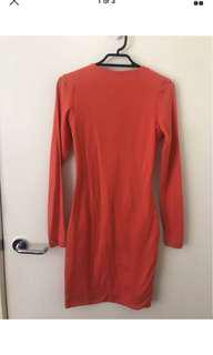 KOOKAÏ Long Sleeve Bodycon Dress - Size 1 - BRAND NEW WITH TAGS