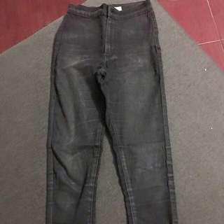 Topshop Black Joni Pants