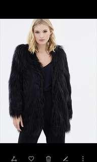 Lioness Black fur coat