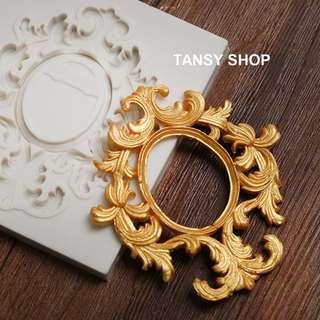【TANSY SHOP】翻糖模具滿三件打八折! 幾何 歐式立體幾何框 裝飾 干佩斯 硅膠 矽膠模具 翻糖DIY烘焙工具