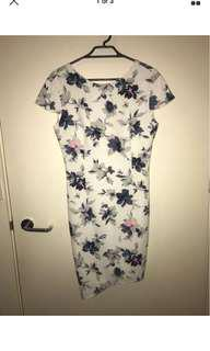 ATMOS & HERE Floral Backless Dress - Size 8