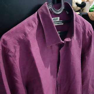 FS Kenzo Burgundy shirt sz 16 fit M-L