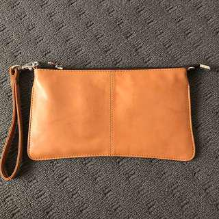 Genuine Leather Clutch