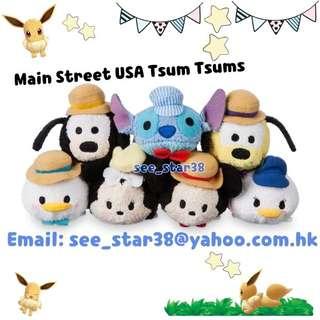 2018最新款美國Disney store Main Street USA Tsum Tsum 公仔