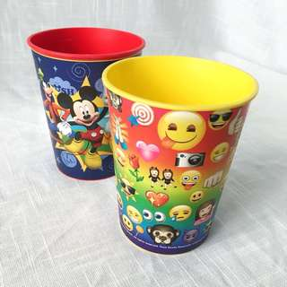 [Set] Mickey Mouse / Emoji Plastic Cups