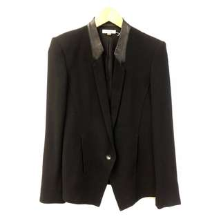 Helmut Lang black with leather jacket size 0
