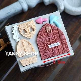 【TANSY SHOP】翻糖模具滿三件打八折! 其他 童話 木屋 蘑菇 干佩斯 硅膠 矽膠模具 翻糖DIY烘焙工具