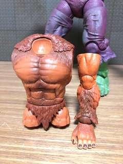 marvel legends sasquatch torso and left leg baf