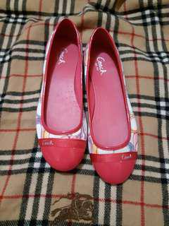 Original authentic Coach pink ballerina doll flat shoes
