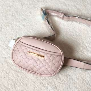 Quilted Nude Pink Belt Bag