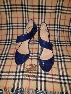 Authentic Original Calvin Klein Blue Heels Shoes