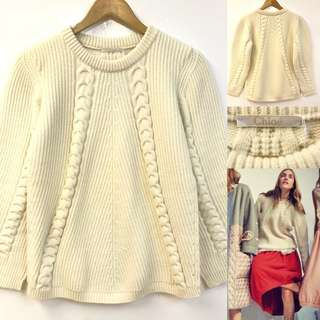 Chloe white knit sweater size S