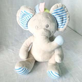 Popito Popito Elephant Stuffed Toy (Blue Ear)