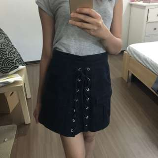 Lace up Denim Skirt #50Under
