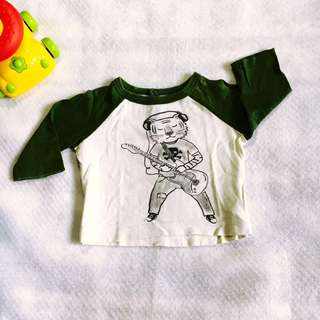 Baby Boy Tiger Guitarist Long Sleeves (3-6m on tag)