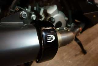 Brand New R&G Exhaust Protection Guards For Xmax Akrapovic Endcans