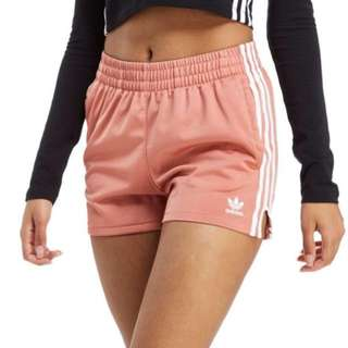 Pink Adidas 3-Stripes Poly Shorts