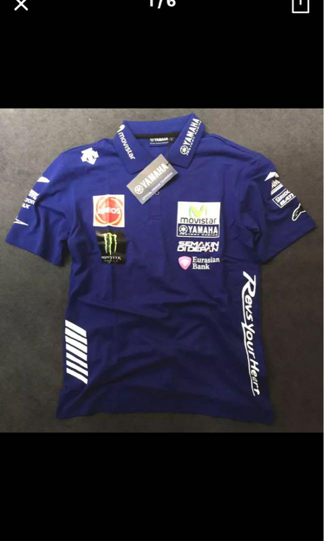 2018 Design Motogp Valentino Rossi Vr46 Movistar Polo Shirt The Doctor For Yamaha Motorcycle T Shirt Motorcycles Motorcycle Apparel On Carousell