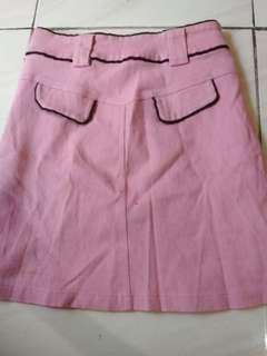 Rok jeans pink