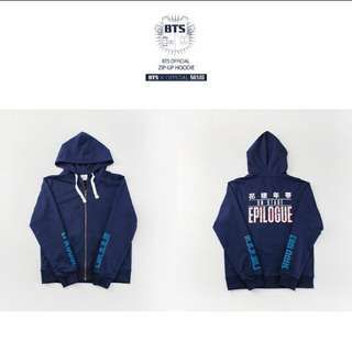 [PRICE REDUCED] BTS EPILOGUE ON STAGE OFFICIAL ZIP UP HOODIE