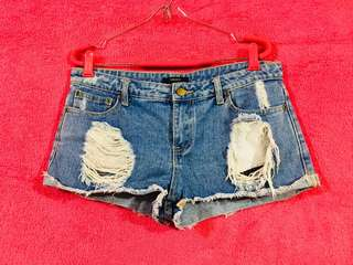 Forever 21 tattered denim/maong shorts