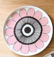 全新100% Marimekko KESTIT pink castle plate 20cm 日本限定