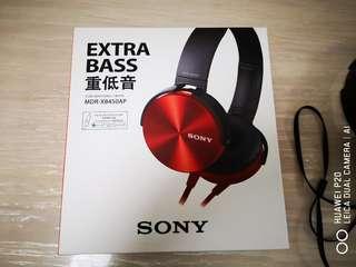 Sony XB 450AP headphones with mic