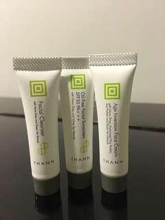 Thann cleanser* sunscreen* face cream*