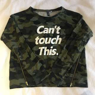 H&M divided camouflage sweatshirt jumper