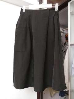 韓國新款靚籽七分闊腳褲, 橡筋腰