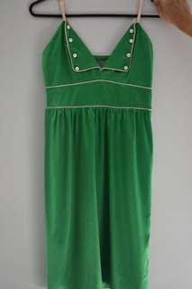 SHEIKE green satin dress size 8 small