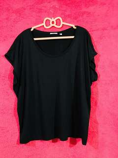 Uniqlo Black Basic Top Almost New