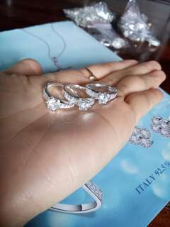 Sale Genuine 925 Italy silver ladies ring