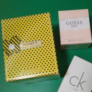 Branded perfume Marc Jacobs,  and GUESS