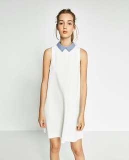 Sale! Zara Sleeveless Popline Collar Dress