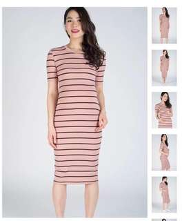 Gwen Knitted Bodycon Nursing Dress