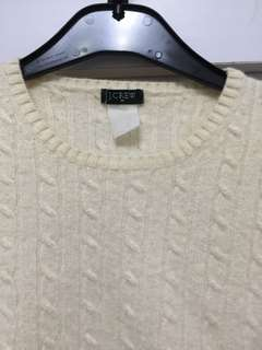 Knitted Off White Sweatshirt