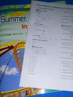 S2 to S3 Summer Adventure in Mathematics Ans booklet