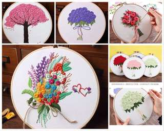 [Pre order] DIY embroidery pack flower bouquet