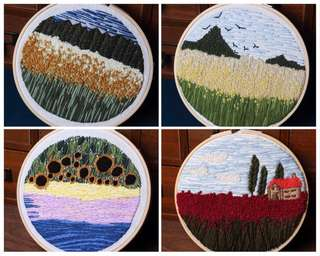 [Pre-order] DIY Scenery Embroidery Sewing Kit 刺绣包