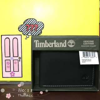 Timberland wallet 男裝銀包 黑色