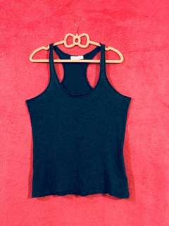 Forever 21 Halter Back Washed Blue Medium