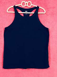 Old Navy Relaxed Halter Back Blue Top